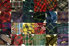 Woven Edge Polyester Tartan Ribbon, for Sewing, Card Craft 7, 10, 16, 25, 38mm