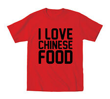 I Love Chinese Food Funny Foodie Takeout Novelty Humor Party Cool Mens T-Shirt