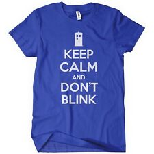 Keep Calm and Don't Blink TShirt Dr Doctor Tardis Time Lord Angels 10th Who 11th