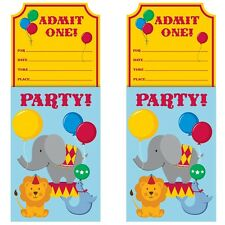 Circus Time Party Invitations with Envelopes 8 - 48pk
