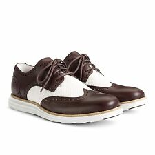 Cole Haan Lunargrand Wing Tip Mens Leather & Mesh Oxfords Style C12366 Chestnut