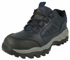 "UNISEX NAVY LACE UP TOTECTORS SAFETY STEEL TOE CAP BOOTS ""SPORT"" - 2982C"