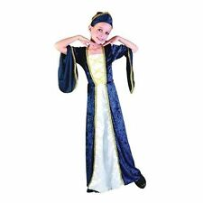 Girls Regal Princess BLUE Medieval Tudor Renaissance Fancy Dress Costume CC986