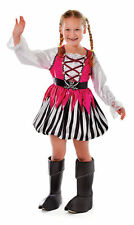 Kids Girls PINK PIRATE Fancy Dress Costume World Book Day Week Outfit CC096