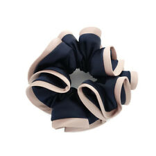 Satin Biased Trim Scrunchies Two Tone Glossy Fabric Elastic Ponytail Holder