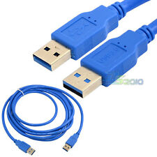1.5Ft 6Ft 10Ft 0.5m 1.8m 3m USB 3.0 A Male To Male Plug Extension Cable Cord