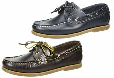 Wrangler Mens Leather lace up casual Boat shoes