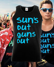 21 22 Jump Street Suns Out Guns Out Summer Blue Vest Tank top Channing Tatum New