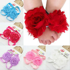 Baby Girl Newborn Kids Children Foot Flower Shoes Socks Photo Prop Accessories