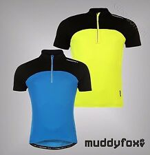 Mens Muddyfox Cycling Short Sleeved Jersey Top T Shirt ¼  Zip S M L XL XXL XXXL