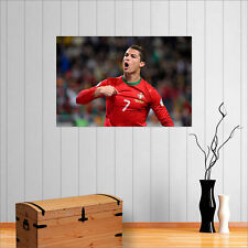 CRISTIANO RONALDO CR7 FOOTBALL GENIUS WALL ART POSTER
