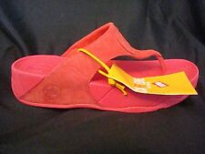 FitFlop Fit Flops Walkstar 3 Nubuck Hibiscus Red Toning Flops NEW FREE SHIP
