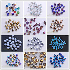 Wholesale 100pcs 4mm Bicone Faceted Crystal Glass Loose Spacer Beads DIY Jewelry