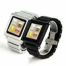 New  Aluminum Multi-Touch Watch Band kit Strap Bracelet for iPod Nano 6 6th