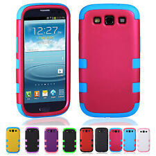 NEW CHEAP Silicone Hybrid Hard Phone Case Cover For Samsung Galaxy S3 SIII i9300