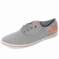 NEW Men's Henleys Charlie Canvas Pumps-Lace up Shoes/Trainers - Navy,White,Grey