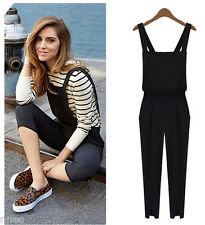 Womens pant Jumpsuits Pants braces Suspenders trousers overalls dungarees