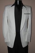 White Miami Vice Dinner Jacket DJ Cruise Tuxedo Masonic jacket All Sizes!