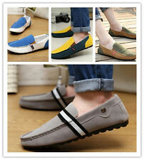 Man Summer Thin Board Flat Causal Colorful Driving Shoes Slip On Canvas Korean