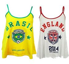 New Womens World Soccer Football Competition Support Swing Vests 4-10