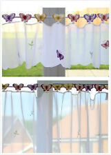 """Beautiful Butterfly Voile Cafe/Kitchen Panel/Net Curtains 12"""",24"""",36"""", 83"""" Drops"""