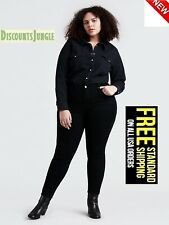 1826 Stretch BLACK premium denim jeans WOMENS PLUS SIZE pants SKINNY LEG PL-880