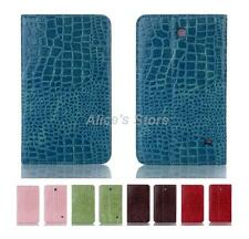 """Crocodile PU Leather Stand Smart Case Cover for Samsung Galaxy Tab 4 8"""" SM-T330"""