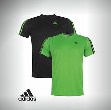 Mens Branded Adidas T Shirt Running Short Sleeve Sport Crew Neckline S M L XL