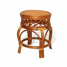 GINGER HANDMADE HIGH QUALITY WOVEN NATURAL RATTAN WICKER STOOL FULLY ASSEMBLED
