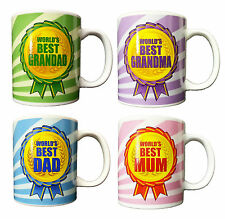 WORLDS BEST Greatest Parents Mother Day Novelty Mug Cup Present Large GIFT BOXED