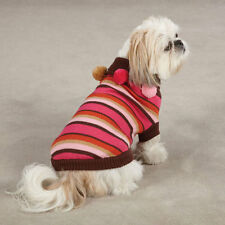 Spirit STRIPED or POLKA DOT Pom Pom Sweater Puppy Dog Multi-colored  Size:Misc