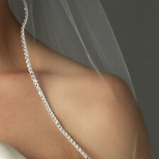 2-Layers Elbow Length Rhinestone Edge Wedding Accessory Bridal  Veils With Comb