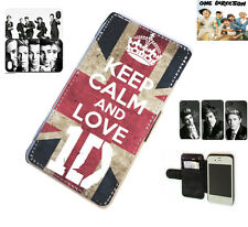 1D One Direction Niall Harry leather card wallet phone case for S2,S5,S3,S4 Mini