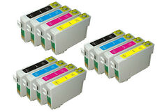 12 INK CARTRIDGES FOR EPSON COLOUR INKJET PRINTERS