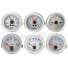 "Car 2"" 52mm Oil/Water Pressure/Temperature Volt Boost Gauge Tachometer Meter New"