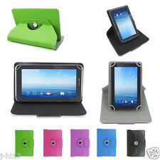 "Rotating Leather Case Cover+Gift For 7"" Proscan 7 Inch Android Tablet GB1HW"