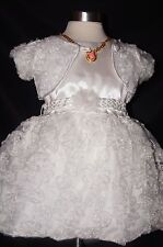 White Christening Gown,Communion,Baptism,Pageant,Bridal flowergirl dress