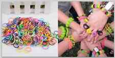 600PCS Popular DIY Elastic Refill Hair Band Rubber Bands Silicone Kit Bracelet