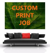 Custom print  work / Banner poster / Print job / wall art deco / Photo pictures