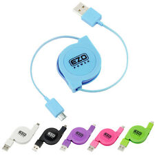 Micro-USB Retract Sync Charge Cable For Samsung HTC LG Nokia Cell Phone Tablet