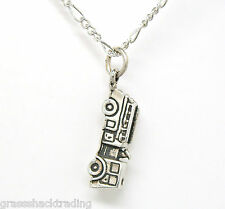 3D FIRE TRUCK ENGINE 925 Sterling Silver Necklace Chain and Pendant 1933