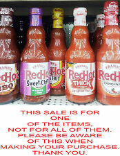 Franks Red Hot Sauces, 6 Varieties, Pick One, Dip, Spread, Or Pour On The Heat!