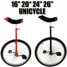 "RED BLACK 16"" 20"" 24"" 26"" INCH FUN UNICYCLE UNI CYCLE SCOOTER CIRCUS PRO BIKE"