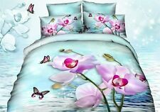 New 3d Bedding pastoral floral Printing Series Bedding Quilt Bed Single 4pc
