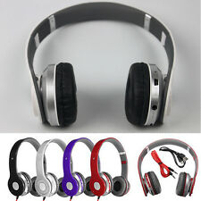 Wireless Bluetooth Stereo Headset Earphones + Mic&FM Radio for PC Cell Phones