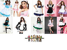 Japanese Waitress Cosplay Lolita French Maid Costume Dress  6 8 10 sexy outfit