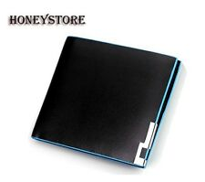 Men's Synthetic Leather Wallet Card Clutch Purse Pockets Cente Bifold Money Clip