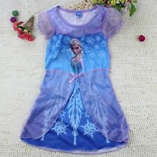 ELSA Frozen Disney Princess Girls Dress Kids Cosplay Skirt Party Costume Yr 2-11