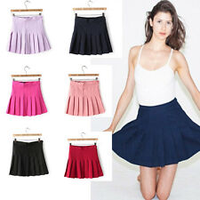 Fashion Women's High Waist Pleated Slim Thin Tennis Skirts Mini Dress Playful