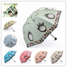 Classic Compact/Folding Cartoon Totoro Sun Dome rain umbrella